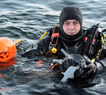 Royal Navy Reservist Diver