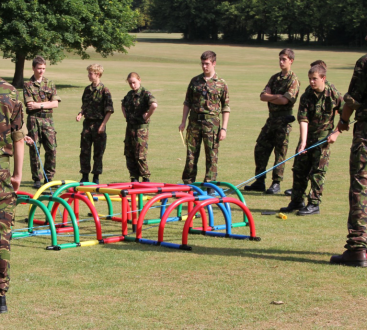 Cadets on leadership task