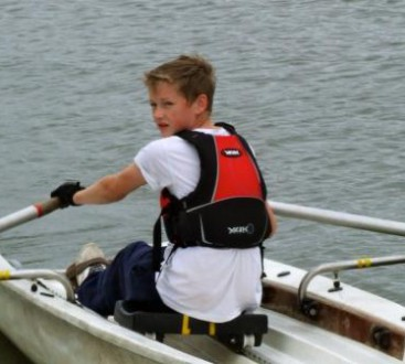 Sea Cadet in a boat