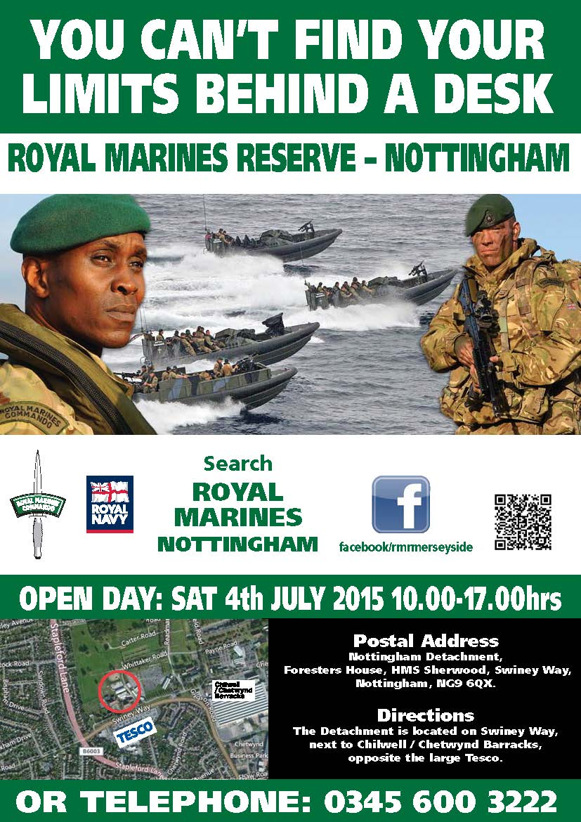 Royal Marines Reserve Open Day East Midlands Rfca East