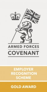 Armed Forces Covenant Employer Recognition Scheme Gold Award Logo