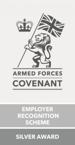 Armed Forces Covenant Employer Recognition Scheme Silver Award Logo