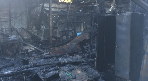 Damage from the fire at Kettering Sea Cadets 2