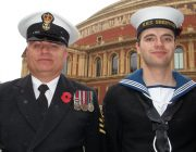Petty Officer Derek Parsons and Able Seaman Tristan King from HMS Sherwood