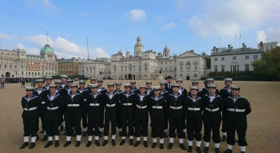 Sea Cadets from Northamptonshire and Leicestershire were in Trafalgar Square for the anniversary of the Battle of Trafalgar