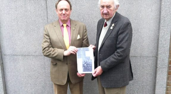 Col Jeremy Field, Commandant of Lincolnshire ACF is pictured with the article and Maj (Rtd) Derek Sendall