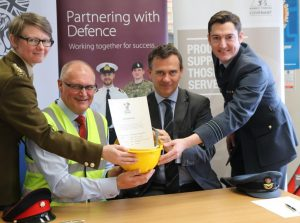 A number of employees from Travis Perkins attended the signing