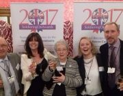 Sharon Wyatt with her parents at the Soldiering on Awards
