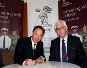 Welbeck, The Defence Sixth Form College, Principal Peter Middleton and the Ministry of Defence's Regional Employer Engagement Director John Wilson 1