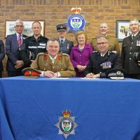 Signing the Armed Forces Covenant in Leicestershire