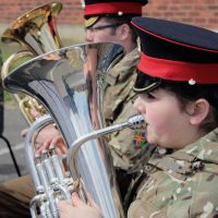Members of the Lincolnshire  ACF band performing at a recent Easter Camp press release