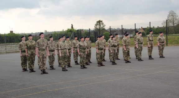 Montsaye Academy CCF with their berets