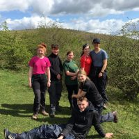 Pictured in the Peak District are LCpl Hannah Fletcher, Christopher Baldock, Cpl Elizabeth Train Brown, LCpl Ellie Rowbotham, LCpl Tarryn Rayment, LCpl Erin Rowe and LCpl Jake Lawson.