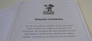 Signing the Armed Forces Covenant in Derbyshire