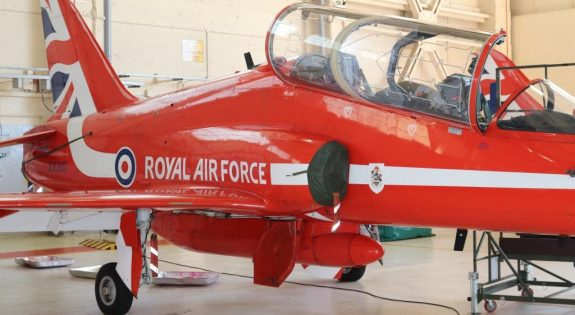 Red Arrow pictured during the visit