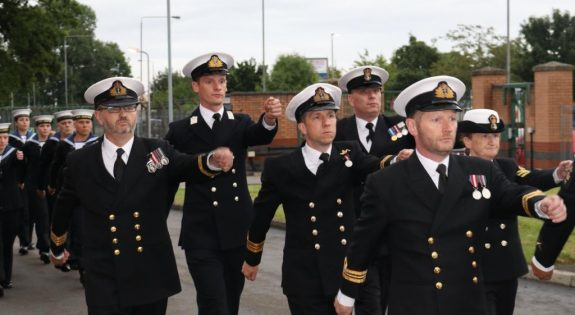 Reservists parade as part of the Ceremonial Divisions event