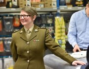 Adult volunteer at organisation's Armed Forces Covenant signing