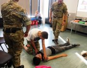 West Bridgford Air Cadets providing first aid training