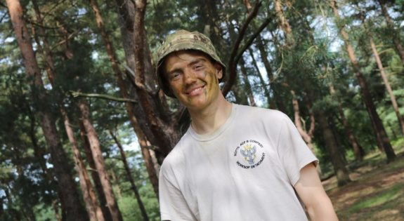 Master Cadet Matthew Frost pictured during annual camp