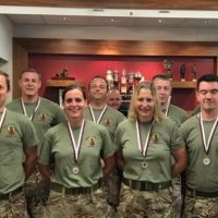 Reservists who took part in the race