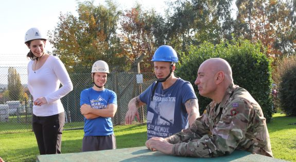Reservists from 162 Regiment, Royal Logistic Corps were on hand to pass on their knowledge