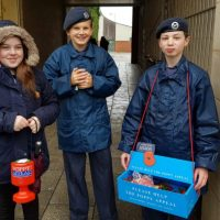 Air Cadets from 121 (Boston) Squadron collecting for the Poppy Appeal