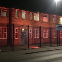 Army Reserve Centre on Ulverscroft Road Light Up Your Building initiative