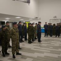 Cadets in the main hall at the new centre