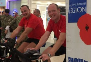 Members of 160 (Lincoln) Squadron, 158 Royal Logistic Corps taking part in the charity bike ride