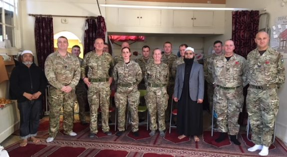 Reservisits from 160 (Lincoln) Transport Sqn visit Lincoln Mosque