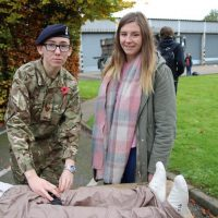 Students visited a First Aid stand