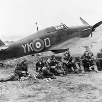 Members of RAF 80 Squadron during operations over Albania in 1940