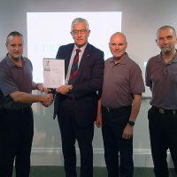 Mercury Electronic Warfare Ltd Silver Award Presentation