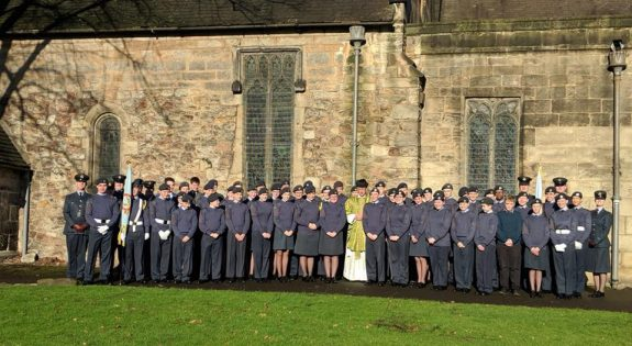 Air Cadets from Long Eaton Detachment and Stapleford & Sandiacre Detachment at the local Church