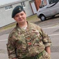 Cadet Shelley Clements at annual camp