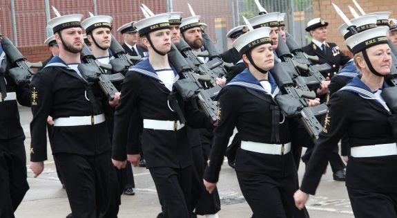 HMS Sherwood previous Rededication Parade