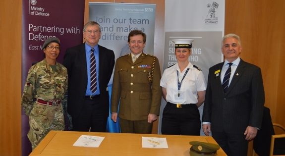 Group shot with reservists after the signing