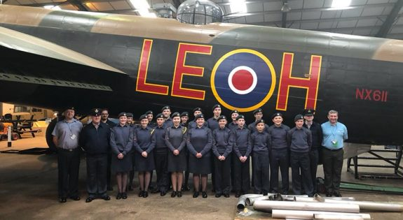 Members of 1300 (Sutton in Ashfield) Squadron at Lincolnshire Avuiation Museum