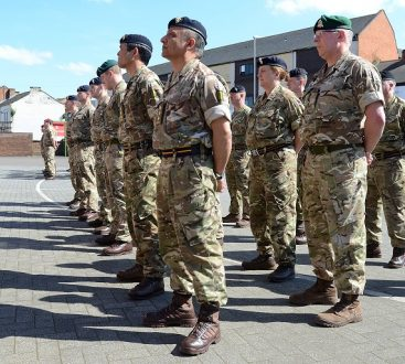 Members of both Battalions marched in front of the Commanding Officer of 103 Battalion REME and invitied. guests
