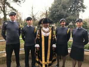 Memebers of 2070 (Glenfield) Squadron with the Lord Mayor of Leicester
