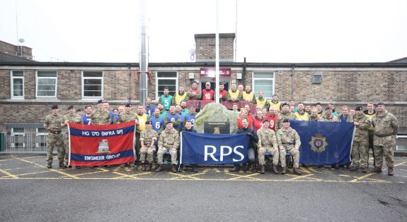 RPS Group with soldiers from 170 and 158 Regiements