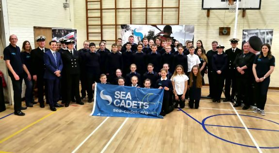 The Sea Cadet Unit with MP Alberto Costa  Photo credited to Tom Clark