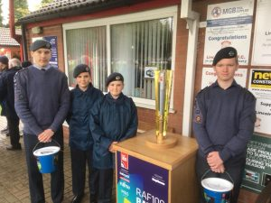 127 North Hykeham with the RAF100 Baton