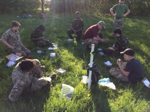 Cadets from Kings School and Magnus Academy learning survival skills.