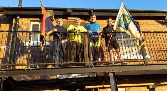 From left Lt Mick Gibb, Lt Col Terry Hayter, Major Richard Walton, 2Lt Paul Thomas