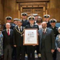 HMS Sherwood has received the Freedom of the City of Nottingham a honour presented by Nottingham City Council