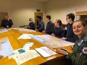 Members of 209 (West Bridgford) Squadron at the Aerospace course