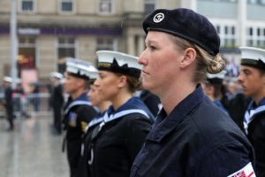 One of the reservists on parade awaiting inspection