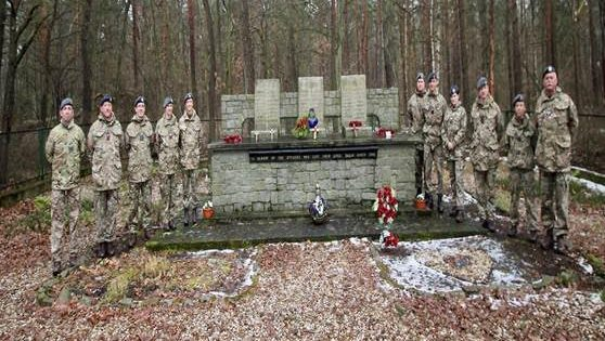 Visiting one of the memorials related to the Great Escape