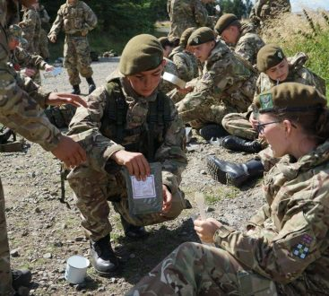 8 The cadets spent the night in the field under bashas on this two day exercise.